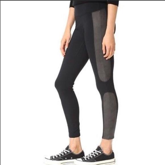 d22c6807cb386e SPANX Pants | Faux Leather Side Panel Ponte Leggings Nwt | Poshmark